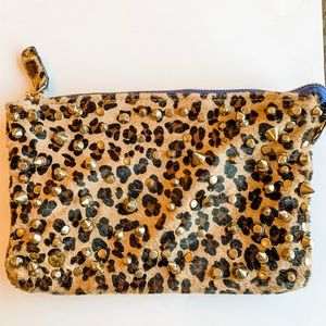 Zara animal print/hair clutch *